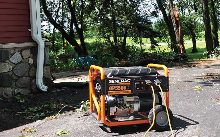 Generac GP 5500 generator outside