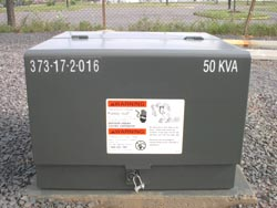 A major component of NOVEC's underground electric system are transformers